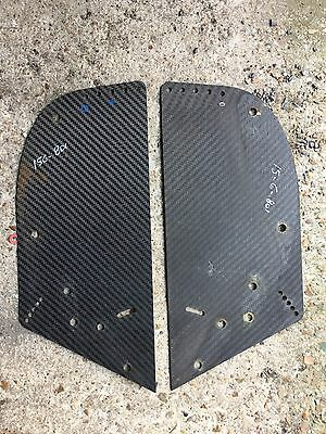 Minardi M02 F1 carbon pair Of rear wing end plate adjuster plates