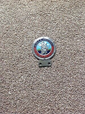 Vintage Antique St. Christopher Car Badge - Badge Bar type fitting