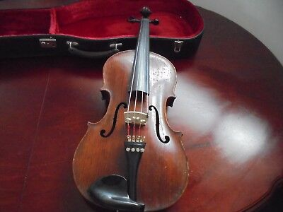 Viola  With Bow And Case.