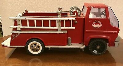 VINTAGE 1960's RED TONKA GAS TURBINE PUMPER HOSE FIRE TRUCK ENGINE parts missing
