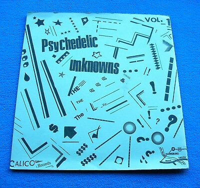 """PSYCHEDELIC UNKNOWNS VOL. 1 1st US 7"""" *CALICO* MEGA RARE GARAGE PSYCH EP~NM COPY"""