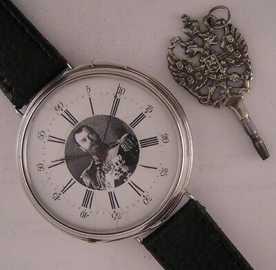 Military 1900 Serviced King Nicolas Antique Swiss SILVER Gent's Wrist 1 Perfect