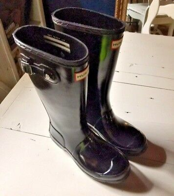 EUC Girl's/Boy's Hunter 'Original Gloss' Rain Boot Youth size 2-4 (see details)