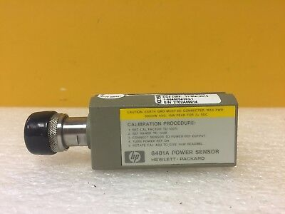 HP / Agilent 8481A 10 MHz to 18 GHz, +10 to +20 dBm, Power Sensor. Tested!