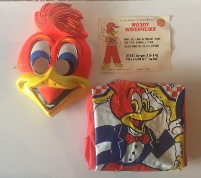 VTG Ben Cooper Woody Woodpecker Costume 1973 Walter Lantz Child Large 12-14