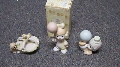 Lot of Precious Moments collectible porcelain/bisque figurines-clowns