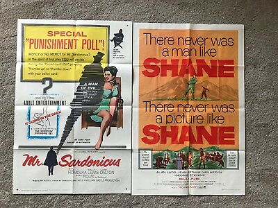 Lot of 2 original vintage 27x41 one sheet movie posters! 1940s - 1980s