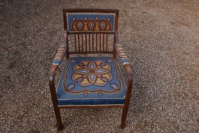 Antique - Edwardian - Victorian - Parlour - Salon - Tapestry - Chair