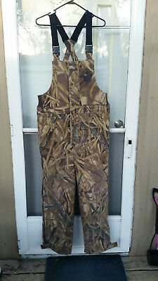 New Cabela's Men's Insulated Hunting Bibs Advantage Wetlands CAMO Size Men's Reg