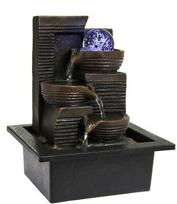Ball Water Fountain With LED Light - Indoor Water Feature - 240v Mains