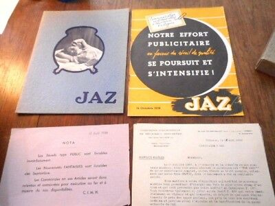 1937-38 Lot Of Jaz Clock Catalogs Order Form French Horology Illustrated