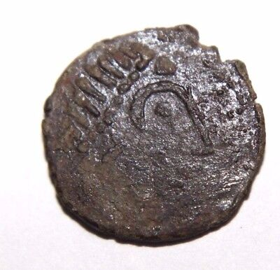 Celtic Bronze Coin with Swastika 100 BC