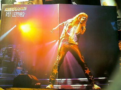 Def Leppard Lead Singer Joe Elliott Double Page Poster from Kerrang Magazine