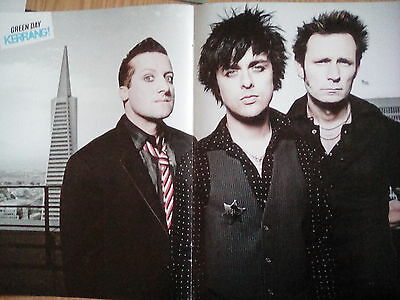 Green Day Double Page Poster from Kerrang on Reverse 30 Seconds to Mars