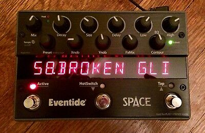 Eventide Space Reverb Stomp Box Pedal Super Studio Clean 110%
