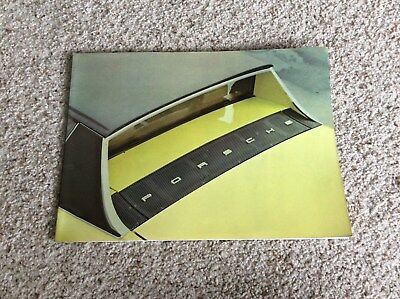 1970s Porsche original 914 dealership showroom deluxe color sales catalogue