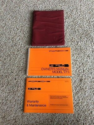 1977 half Porsche original 924 owners manual packet  NOS unused