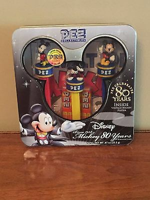 "Disney ""Mickey 80 Years"" Collection PEZ Collectibles Limited Edition (Sealed)"