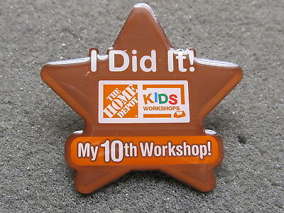 home depot collectibles home depot kids workshop I did it my 10th.  lapel pin