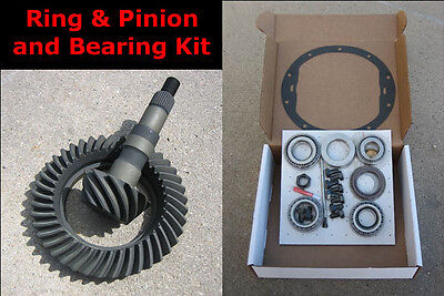 """CHEVY GM 8.5"""" 10-Bolt Gears - 3.73 Ratio & Master Bearing / Installation Kit NEW"""