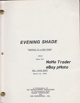 1993 EVENING SHADE Directed by ROBBY BENSON script BURT REYNOLDS MARILU HENNER