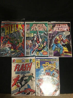 Comic Lot: Red Sonja #2, Flash, Alpha Flight, Hulk