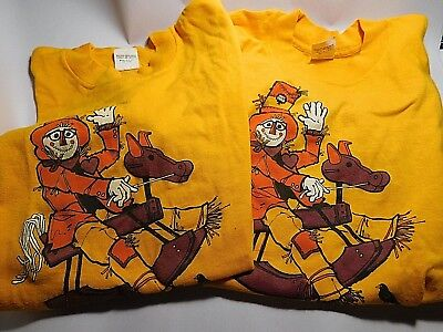 Two 1982, Collectible, NUT TREE  Scarecrow Contest T-Shirts~Medium