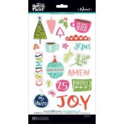 Illustrated Faith - Chipboard Stickers - Advent - Xmas Planner Bible Journalling
