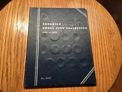 Canadian Small Cent Collection 1920~1964 ~ Lot of 45 Pennies Coins in Album