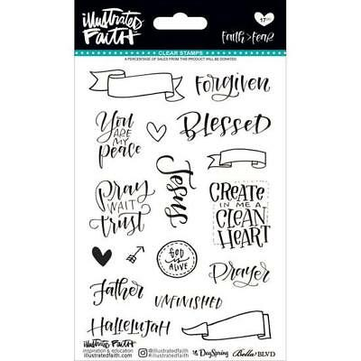 Illustrated Faith - Clear Word Stickers - Faith > Fear Planner Bible Journalling