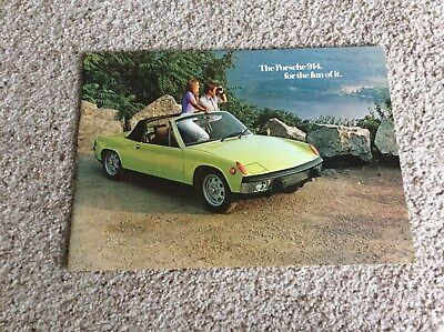 1970s Porsche 914 original dealership showroom deluxe color sales catalogue