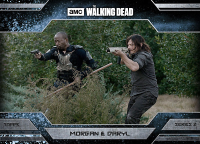 Topps Walking Dead Allegiance Series 2 Daryl Dixon and Morgan Jones ICE 500cc