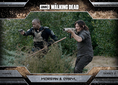 Topps Walking Dead Allegiance Series 2 Daryl Dixon and Morgan Jones DUST