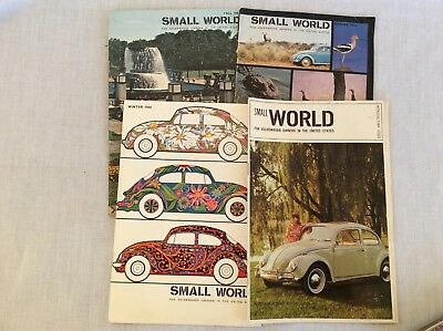 Lot of 4 Volkswagen VW Small World Magazine Bus Booklet Beetle Vintage Bug 1970