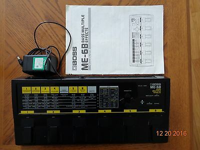 BOSS ME-6B  Bass multiple effects board with Ac Adapter and manual