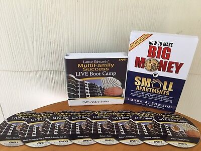 "Lance Edwards Multifamily Success ""live""  Boot Camp Course - 8 Dvd Set & Book!"