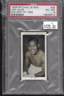 1936 Mitchell & Son JOE LOUIS Gallery of 1935 #28 PSA 6 EX-MT Very Rare VINTAGE
