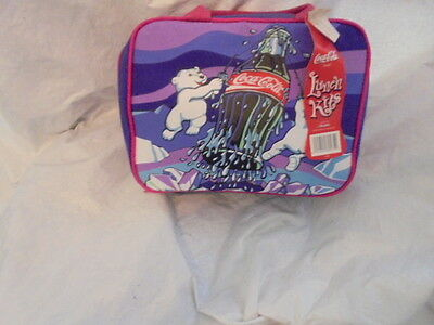 Coca  Cola ,pola Bears,  By Aladdin, Lunch Bag  & Thermos.  New With Tags.