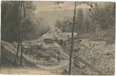Ridgetop, TN Tennessee 1908 Postcard, Train Depot, Railroad