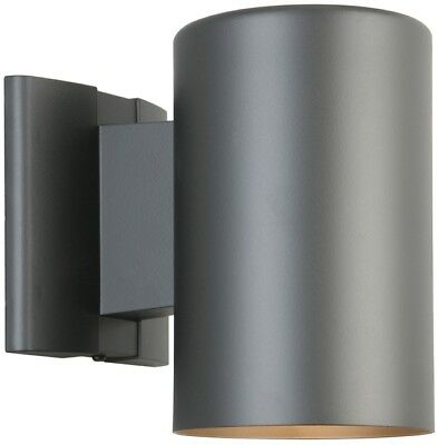 Portfolio Outdoor Wall Light Matte Black Dark Sky 7-in H