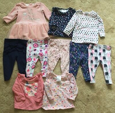 Baby Girl Size 00 Clothing Bulk Lot Tutu Dress Leggings Pants Tops Fashion Cute