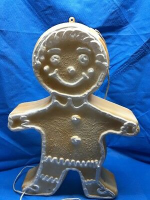 """Holiday Gingerbread Man 23"""" Union Products Light Up Blow Mold Decoration"""
