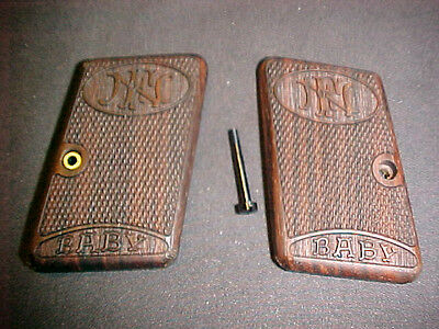 "Browning FN ""Baby"" Fine Checkered Walnut Pistol Grips w/Logo RARE Beautiful!"
