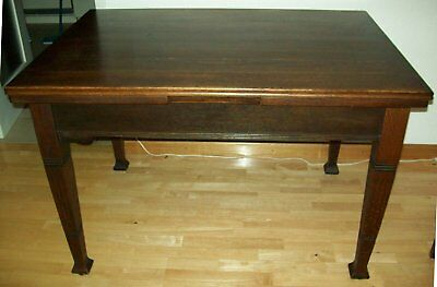 Art Deco vintage dining table, extendable, about 1920/30