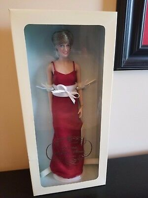 Franklin Mint Princess Diana Doll Red Lame Gown NEW  Limited to 750 World Wide