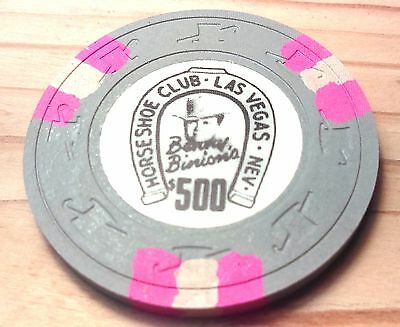 Binion's Horseshoe Casino Obsolete $500 Top Hat and Cane Mold Casino Chip