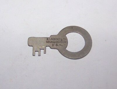 Antique Sargent & Co New Haven Conn Padlock Pad Lock #Bb4 Vintage
