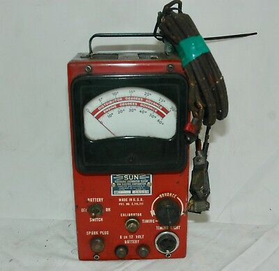 Vintage Diagnostic Car Tool ** SUN DISTRIBUTOR TESTER ** Electric Ignition Part