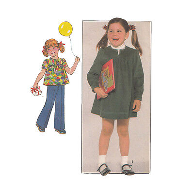 Simplicity 8178 Vintage Sewing Pattern Toddler Smock Dress Top and Pants Size 3