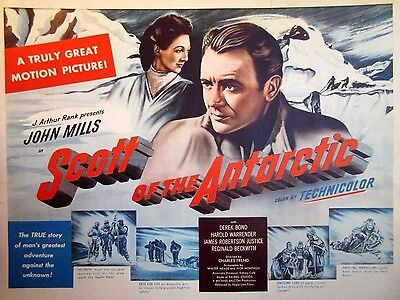 SCOTT OF THE ANTARCTIC ('49) 22x28 - British Explorer's Expedition To South Pole